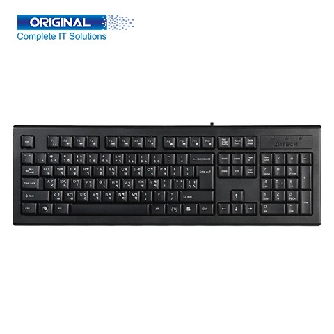 A4 Tech KR-85 Black Wired Keyboard with Bangla
