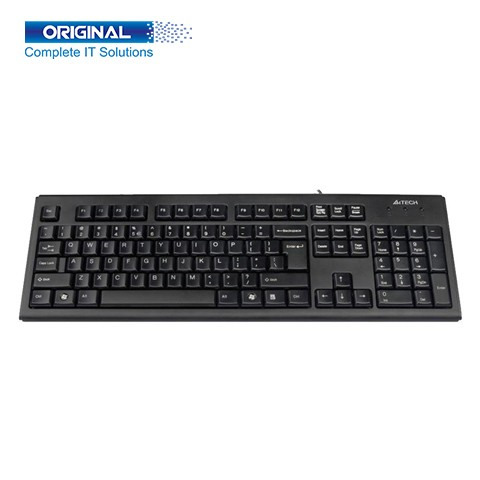 A4 Tech KR-83 Black Wired Comfort FN USB Keyboard with Bangla