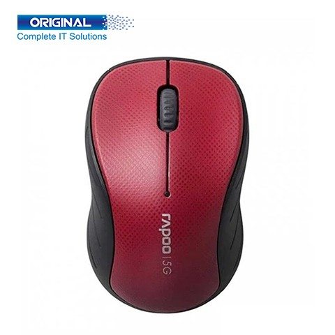 Rapoo 3000P 5GHz Wireless Optical Red Mouse