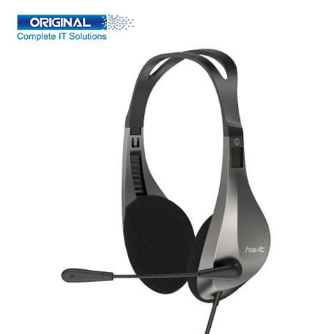 Havit H205d 3.5mm Double Plug with Mic Headphone for Computer