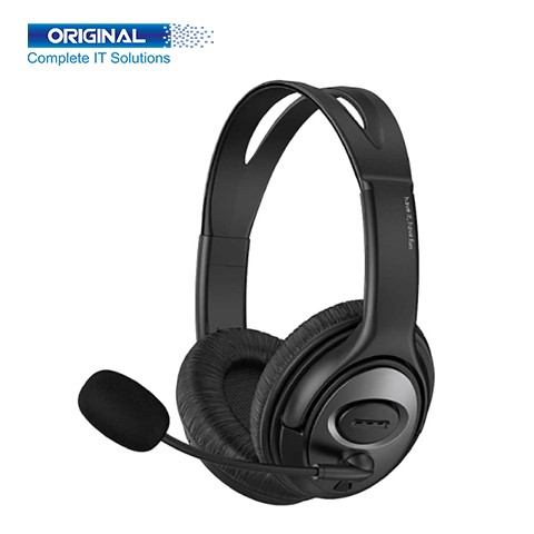Havit H206d 3.5mm Double Plug with Mic Headphone for Computer