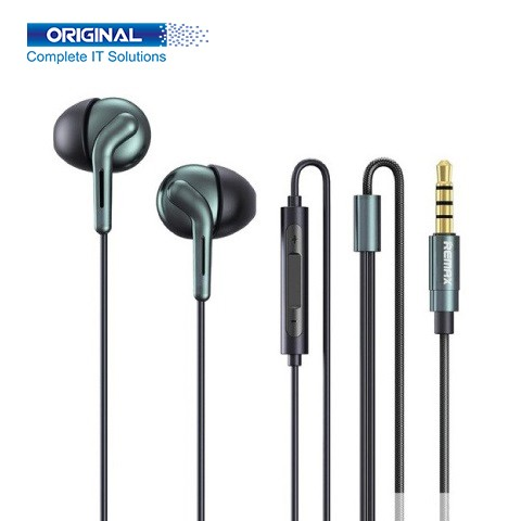 Remax RM-595 Double Moving-Coil Black Wired Earphone