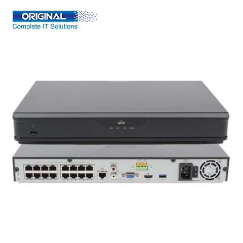 Uniview NVR302-16S-P16 16-Channel Network Video Recorder (2HDD UP TO 6TB NVR)