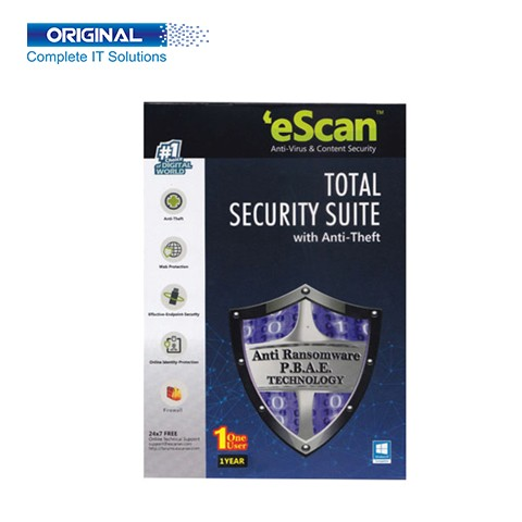 eScan Total Security 1 User For 1 Year